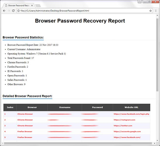 XenArmor Browser Password Recovery Pro Software 2019 Edition