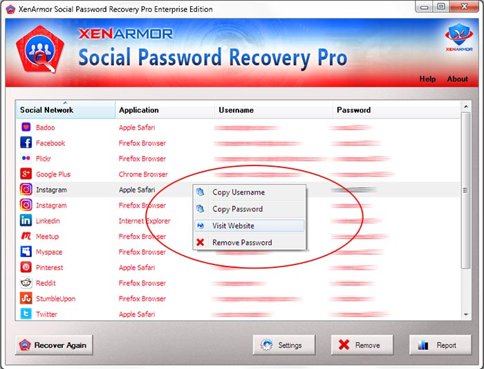 User Guide - Social Network Password Recovery Pro 2019 Edition