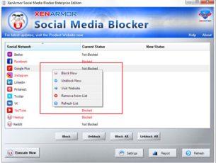 socialmediablocker-rightclick-menu