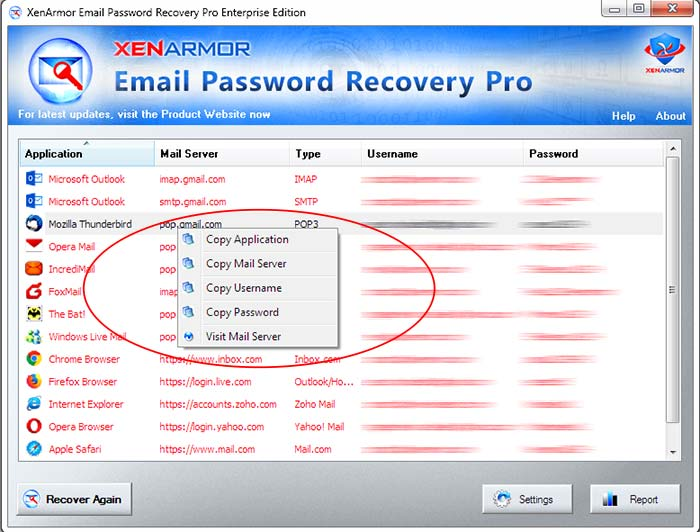 User Guide - Email Password Recovery Pro 2019 Edition | XenArmor