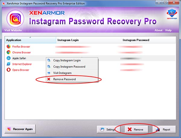 User Guide - Instagram Password Recovery Pro | XenArmor
