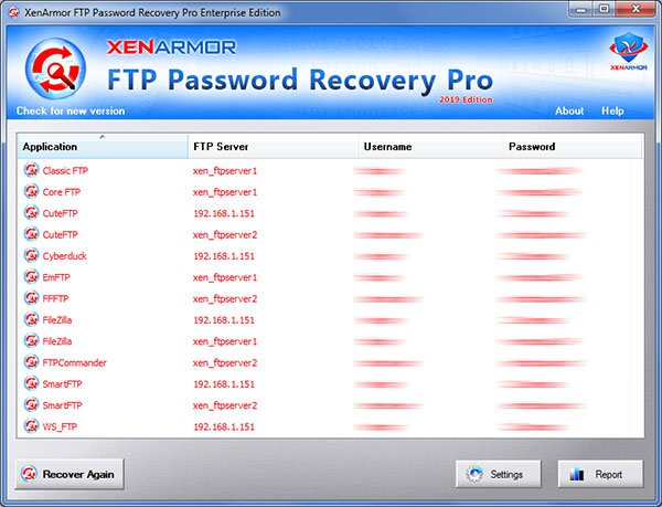User Guide - XenArmor FTP Password Recovery Pro 2019 Edition