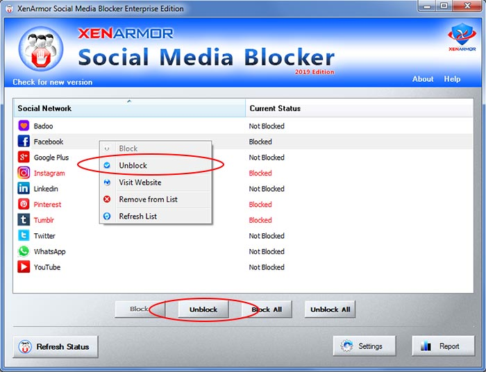 XenArmor Social Media Blocker Software 2019 Edition | XenArmor